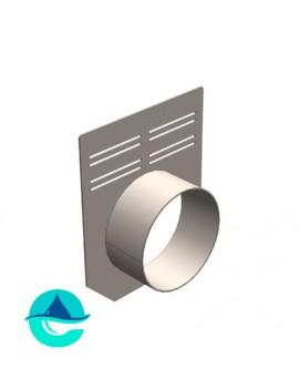 Заглушка 160 мм (с выпуском) для бетонных лотков DN100