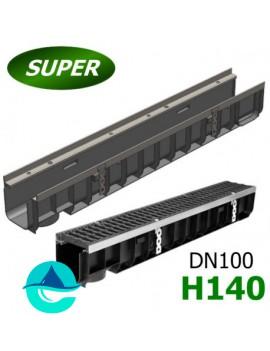 Gidrolica Super ЛВ-10.14,5.14 лоток пластиковый водоотводный