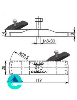 DN100 крепеж Gidrolica для лотка водоотводного пластикового