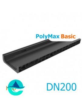Лоток водоотводный PolyMax Basic DN200 H80