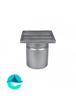 Трап мини 150х150 из нержавеющей стали с вертикальным выпуском ∅ 110мм однокорпусный WM150/110V1