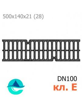 РВ-10.14.50 Gidrolica Super решетка чугунная щелевая, кл. E600