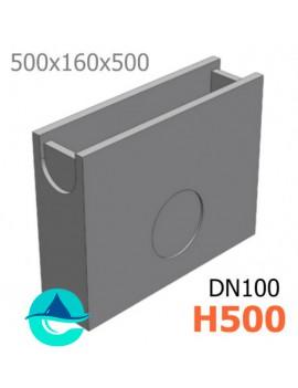 DN100 H500 пескоуловитель бетонный