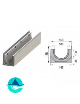 Лоток бетонный водоотводный ЛВК М Sir 100 № 0/0