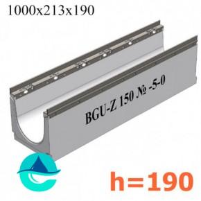 BGU-Z DN150 H190, № -5-0 лоток бетонный водоотводный