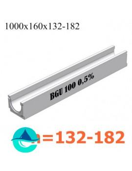 BGU DN100 лотки бетонные водоотводные с уклоном