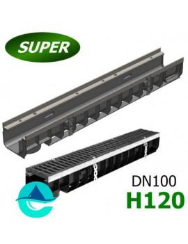 Gidrolica Super ЛВ-10.14,5.12 лоток пластиковый водоотводный