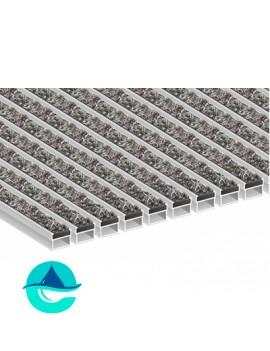 Придверная алюминиевая грязезащитная решетка Текстиль, м2