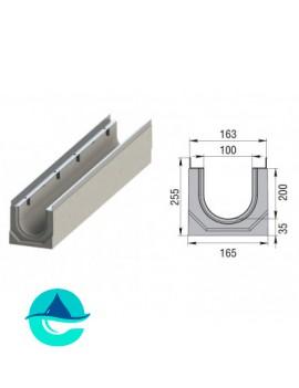 Лоток бетонный водоотводный ЛВК М Sir 100 № 20/0