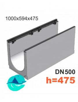 BGZ-S DN500 H475, № 5-0 лоток бетонный водоотводный