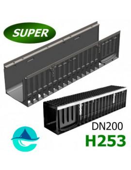 Gidrolica Super ЛВ-20.24,6.25 лоток пластиковый водоотводный