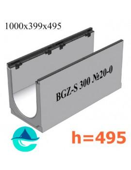 BGZ-S DN300 H495, № 20-0 лоток бетонный водоотводный
