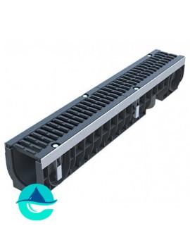 Лоток водоотводный пластиковый PolyMax Drive DN100 H171