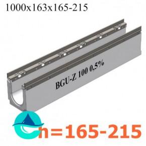 BGU-Z DN100 лотки бетонные водоотводные с уклоном