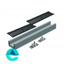 Лотки бетонные водоотводные в комплекте с решетками