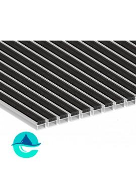 Придверная алюминиевая грязезащитная решетка Резина, м2