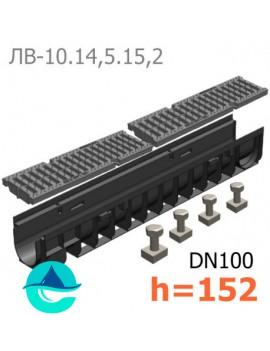 Gidrolica Pro DN100 H152 лоток пластиковый водоотводный