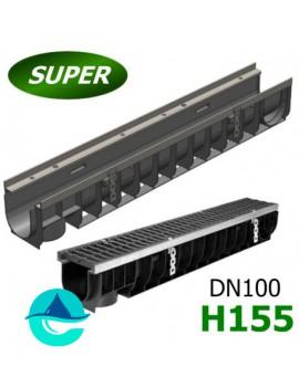 Gidrolica Super ЛВ-10.14,5.15,5 лоток пластиковый водоотводный