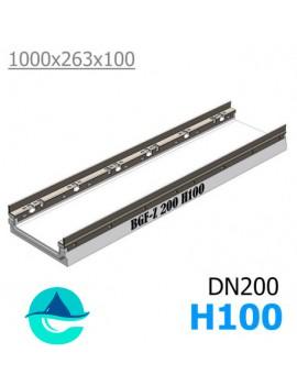 BGF-Z DN200 H100 лоток бетонный водоотводный