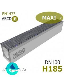 MAXI DN100 H185 лоток бетонный водоотводный