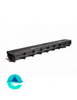 DN90H100 AQUA-TOP лоток водоотводный пластиковый Аквасток c пластиковой решеткой