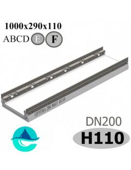 OPTIMA DN200, №0/1, высота 110 лоток бетонный водоотводный