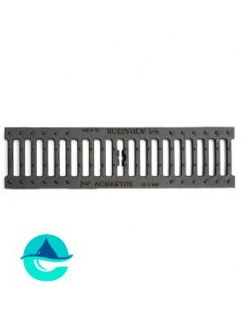 DN100 B125 решетка чугунная щелевая Аквасток