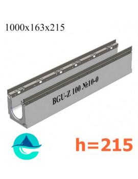 BGU-Z DN100 H215, № 10-0 лоток бетонный водоотводный