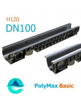 Лоток PolyMax Basic DN100 H120 - водоотводный пластиковый