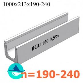 BGU DN150 лотки бетонные водоотводные с уклоном