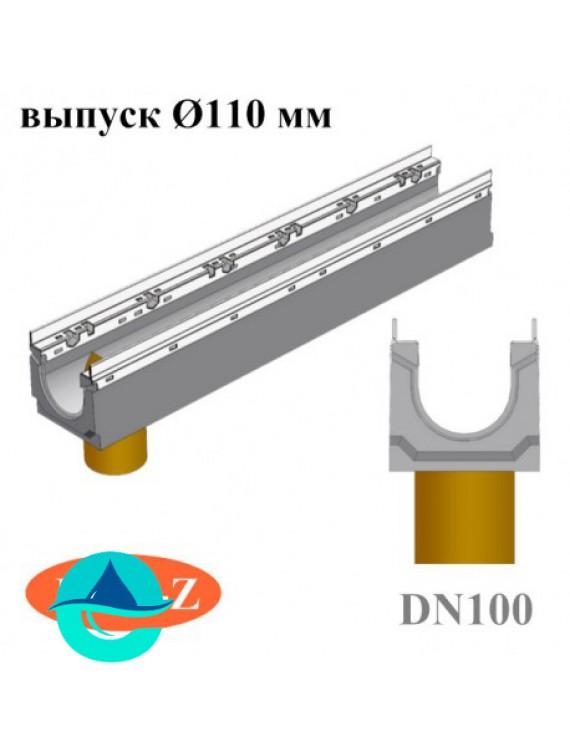 BGU-Z DN100 лотки бетонные водоотводные с вертикальным водосливом
