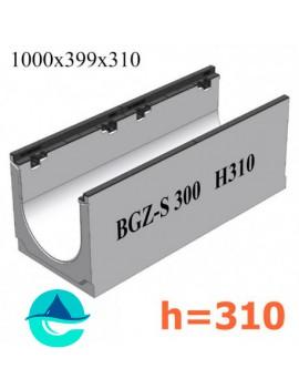 BGZ-S DN300 H310 лоток бетонный водоотводный