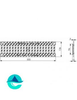 РВ-10.13,6.50 - решетка водоприемная щелевая чугунная Gidrolica