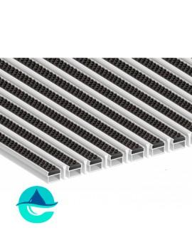 Придверная алюминиевая грязезащитная решетка Щётка + Скребок, м2