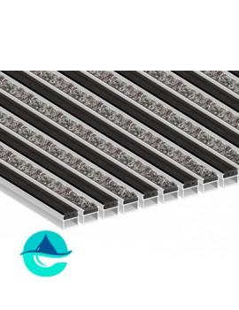 Придверная алюминиевая грязезащитная решетка Резина + Текстиль, м2