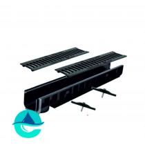 Лотки пластиковые водоотводные в комплекте с решетками