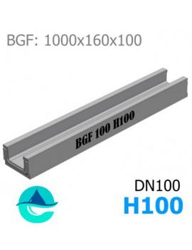 BGF DN100 H100 лоток бетонный водоотводный