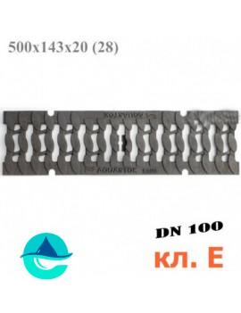 """DN100 чугунная решетка ливневая """"косичка"""", кл. E600"""