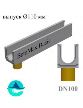 BetoMax Basic ЛВ-10.14.13-БВ лоток водоотводный бетонный с вертикальным водоотводом