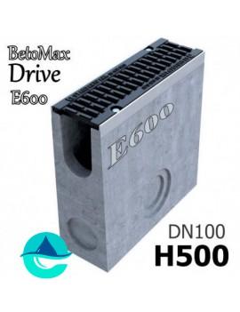 DN100 H500 BetoMax Drive пескоуловитель бетонный с решеткой, кл. E