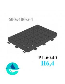 Решетка газонная Eco Super РГ-60.40.6,4 - пластиковая черная
