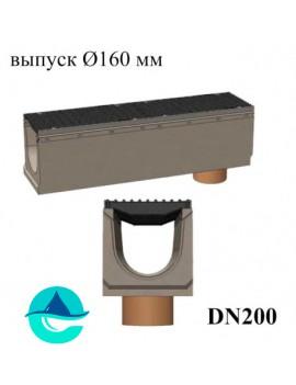 BetoMax ЛВ-20.29.33-Б лотки водоотводные бетонные с вертикальным водосливом и с решеткой чугунной щелевой ВЧ-50 кл. D или E