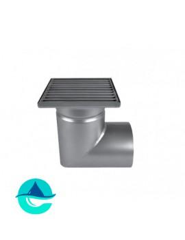 Трап мини 150х150 с горизонтальным выпуском ∅ 110мм однокорпусный
