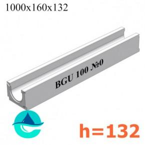 BGU DN100 H132 № 0 лоток бетонный водоотводный
