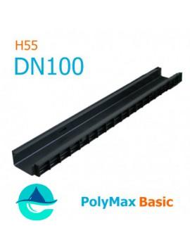 Лоток PolyMax Basic DN100 H55 - водоотводный пластиковый