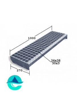 SР 1000x270 30/3 34x38 Zn ступени металлические из решетчатого настила
