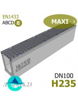 MAXI DN100 H235 лоток бетонный водоотводный