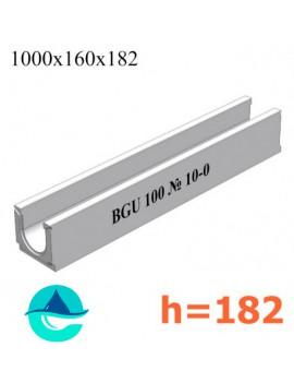 BGU DN100 H182 № 10-0 лоток бетонный водоотводный