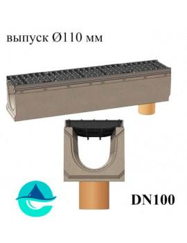 BetoMax ЛВ-16.25.31-Б лотки водоотводные бетонные с вертикальным водосливом и решёткой чугунной щелевой ВЧ-50 кл. D или E
