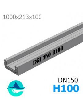BGF DN150 H100 лоток бетонный водоотводный